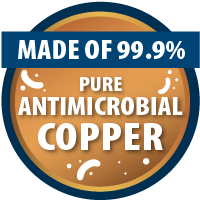 CopperTouch is made of 99.9% pure antimicrobial copper